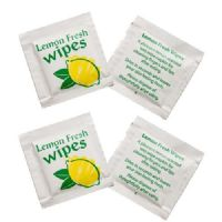 Small Lemon Scented Hand Wipes